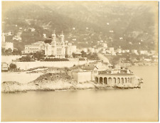 Monaco, Monte-Carlo, vue prise de Monaco  Vintage Albumen Print, Tirage albu