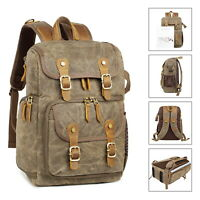 Canvas DSLR SLR Camera Backpack Bag Waterproof Shockproof for Cannon/Nikon/Sony