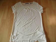 ESPRIT schönes Shirt m. Spitze creme BOHO Gr. XS w. NEU 516