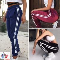 Women Ladies Joggers Tracksuit Bottoms Trousers Slacks Gym Jogging Sweatpants X2