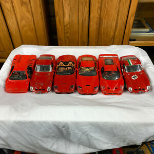 Burago Maisto Mattel 1:18 Scale Ferrari Lamborghini Lot of 6 Cars FOR PARTS