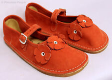 BEAR FEET Girls Orange Flower Power Shoes Youth Sz. 3  ~BRAND NEW~