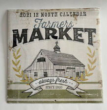 FARMERS MARKET 2021 Calendar Vintage Look Frameable Artwork Jennifer Pugh Artist