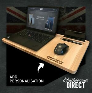 Personalised Laptop desk wood lap tray mobile workstation Home Office (LAP) (EM)