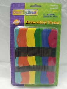 Sealed ! Creativity Street AC6475 Embroidery Thread 8 yard Assorted 24-Colors FS