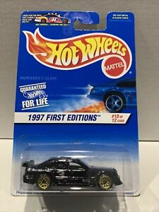 1997 #10 FE Hot Wheels MERCEDES C-CLASS #516 ∞black; gold lace ; ∞First Editions