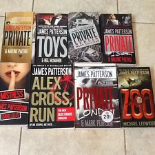 8 James Patterson Books (Private, Zoo, Alex Cross, Toys and More)