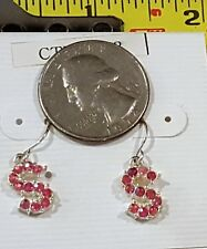 FREE Miniature Fashion Jewelry Earrings Charms Letter S design Crystals