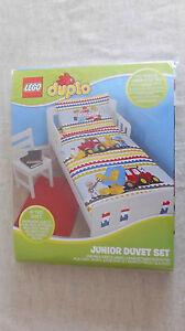 Lego Duplo Junior Duvet Set. Fits Toddler, Junior & Cot Bed. B/N