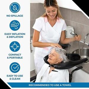 PVC Inflatable Shampoo Basin Portable Shampoo Pad Hair Washing Basin for Elderly