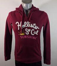 Hollister Womens Burgundy Hooded Sweatshirt Hoodie Large