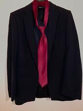 $1450 Gucci Women Classic Black Blazer W Brioni Red Tie Size 42 M S/M