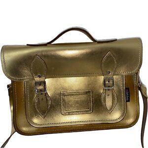 Zatchels Sachtels Handtasche Tasche Crossbody Bag Gold 32 x 22 x 7