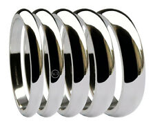 950 Platinum D Shaped Wedding Rings Heavy Bands 2, 2.5, 3, 4, 5, 6, 8mm U.K. HM