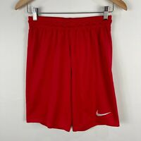 Nike Mens Athletic Shorts Small Red Elastic Waist Drawstring Dri-Fit