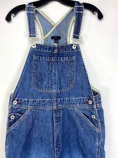 GAP Women's Vintage Blue Denim Jean Overalls Relax Fit Bib Size Small