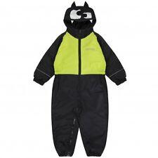 Regatta Mudplay Waterproof Snow Suit Padded Fleece Lined All in One Kids Rain 3-4 Years Bat (black & Lime)