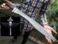"28"" DSK!! RARE HAND MADE DAMASCUS STEEL HUNTING KOPIS SWORD HANDLE ROSE WOOD"