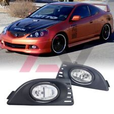 For 2005-2007 Acura RSX Fog Lights (Wiring, Switch, and Bezels) Kit Clear Lens