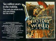 HISTORY OF THE WORLD PART 1 1981 Mel Brooks, Dom DeLuise, Madeline Kahn UK QUAD