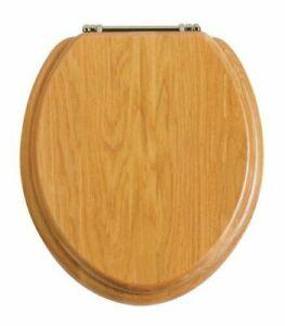 Heritage Oak Toilet Seat with Chrome Hinges FOA101, TSOAK101