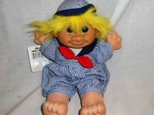 """Russ Berrie TROLL KIDZ Collectable Plush Troll Doll Sailor SKIPPY 2340 12"""" Tags"""