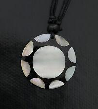 Collier ethnique avec pendentif nacre - Bijoux fantaisie pas cher - BB586