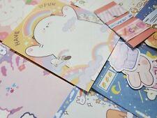 18-24 pcs Cute Stationery Set for Penpal(Memo Sheets, Sticker Flakes, Etc)