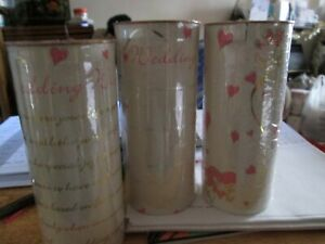 3 X Wedding Day candles marriage love heart candles gift table decor