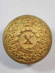 India:10th Madras Native Infantry original Victorian Officers Large Button.