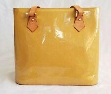 Authentic Louis Vuitton Vernis Houston Tote Handbag Gold Patent Leather Purse