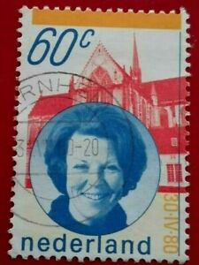 Netherlands:1980 Queen Beatrix 60 C. Rare & Collectible Stamp.