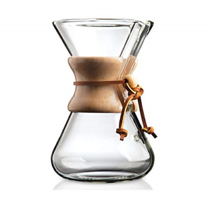Pour-over Glass Coffeemaker 6-Cup Classic Series Exclusive Packaging Multicolor