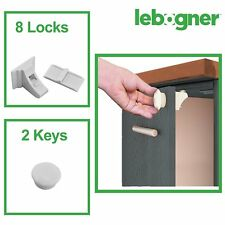Child Safety Magnetic Lock,  Includes 8 Safety Magnetic Locks With 2 Keys.