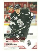 18/19 Upper Deck CHL Yaroslav Likhachev Star Rookie Exclusives #/100