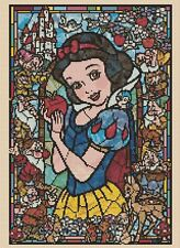 Disney Cross stitch chart Snow White 2 Stained Glass 359 FlowerPower37
