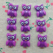 10pcs Owl Flatback Resin Cabochon Scrapbooking for craft.Purple #3