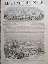LE MONDE ILLUSTRE 1864 N 379 COMBAT dHORUP-HAW ENTRE LES DANOIS ET LES PRUSSIENS