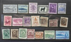 NEWFOUNDLAND SMALL COLLECTION OF USED W/BETTER CAN.SHIP $1.99 COM