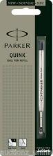 1 x Parker Quink Flow BallPoint Ball point Pen Refills BallPen Black Fine New