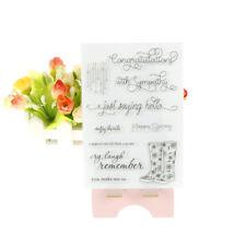 Shoes Transparent Stamps For DIY Scrapbooking Album Paper Card   X