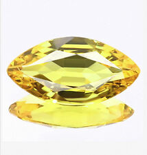 0.85 ct Natural Marquise-cut 5A+ Yellow IF Sapphire (Africa)