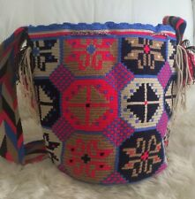 Wayuu Mochila Authentic Large big  Handmade Colombian  Bag 100% Original