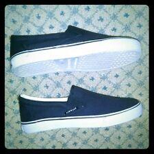 Men's Vintage Airwalk Skate Navy Blue White Sneakers Tennis Shoes Sz 9 US