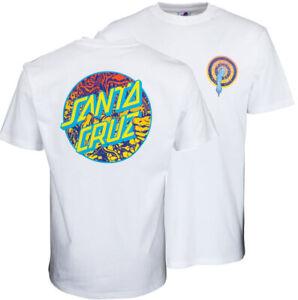 SANTA CRUZ - Rob Roskopp Dot Tee - Skateboard T Shirt - MEDIUM - white - 2ND