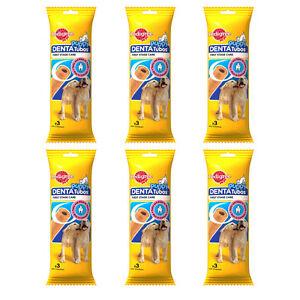6x PEDIGREE Junior DentaTubos Dog Puppy Treats Teeth Care Rich Calcium 72g 2.5oz