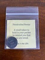 Handcrafted Pewter I Love You More Pocket Token