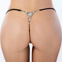 Hot Women Rhinestone G String Underwear Toy Thongs T Back Panty Briefs Lingerie