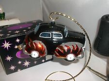 Radko Hot Wheels Flame Scary Face Car Christmas Ornament Made Italy New Nwt+/Box
