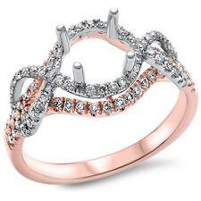 E VS .47ct 14kt White & Rose Gold Diamond Semi Mount Solitaire Engagement Ring